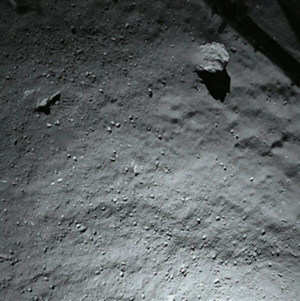 Fotka z kamery ROLIS pořízená ve výšce 40 metrů nad povrchem