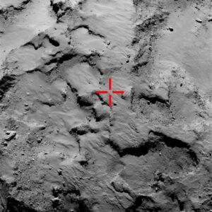 Agilkia - oblast, kam Philae dosedlo na první pokus (a velmi přesně)