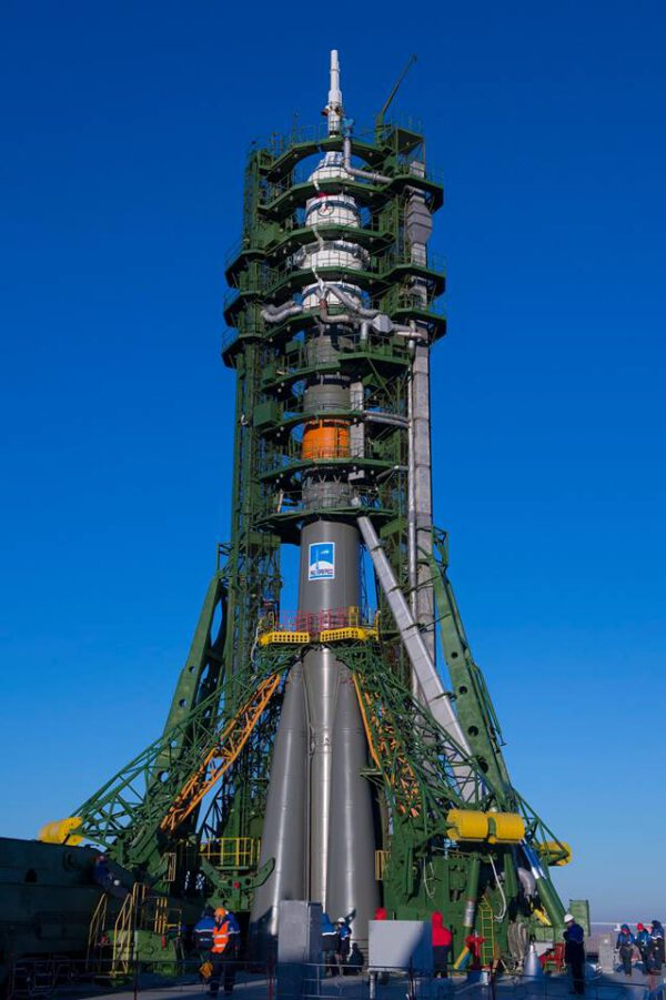 Sojuz na startovací rampě