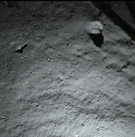 Fotka z kamery ROLIS před přistáním.