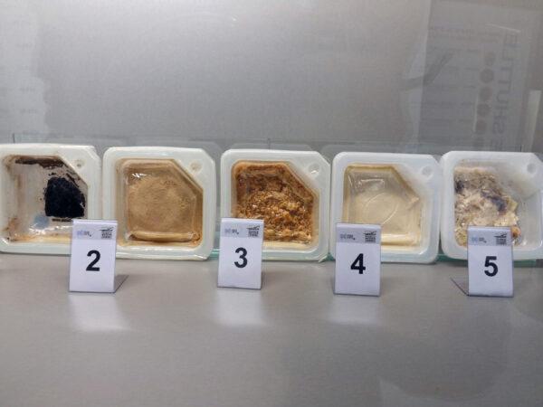 Pět kousků kosmické stravy - kolik jich dokážete identifikovat? Řešení najdete na konci článku.