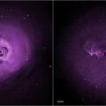 Horký plyn centru galaktických kup Perseus a Panna v podání camery ACIS, není bez zajímavosti, že expozice trvala 416 hodin 32 min.