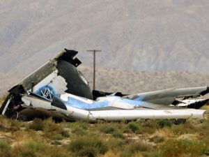 Trosky lodi SpaceShipTwo