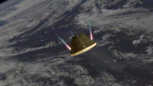 Orion aktivně řídí sestup atmosférou