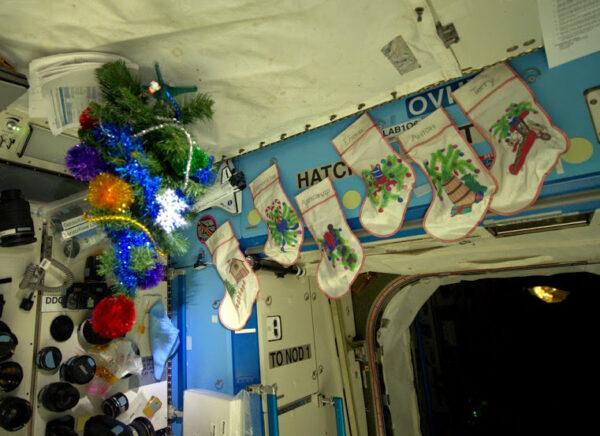 Butch v Destiny přichystal náš vánoční stromek a dokonce pro nás šest pověsil i punčochy.