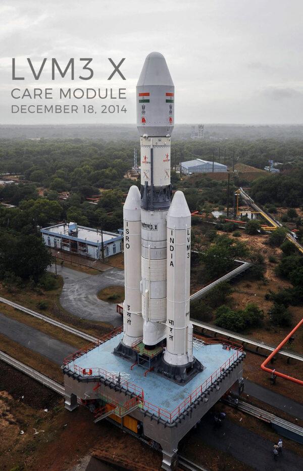 První testovací verze rakety GSLV Mk 3 (nebo přesněji LVM3)