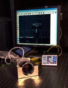 Detailní pohled na optickou část virtuálního telekopu VTAS