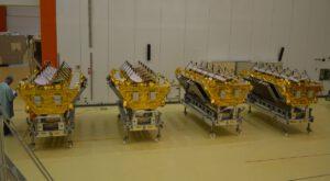 Sestava čtyř satelitů O3b