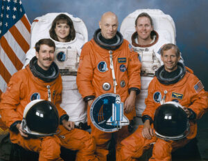 Poslední Storyho posádka... (zleva: Rominger, Jernigan, Story, Jones, Cockrell)