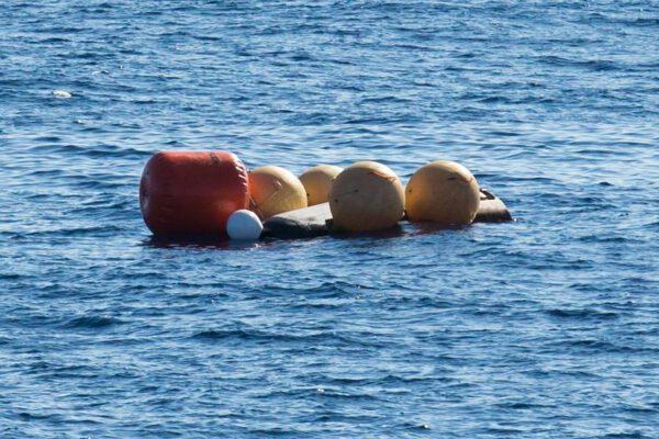 Nafukovací balóny zabránily potopení stroje