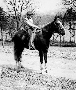 """Story v roce 1946 - kůň byl víceméně """"úplatkem"""" od otce..."""