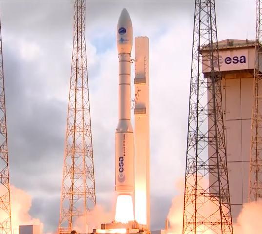 Zážeh, raketa Vega se vydává k obloze