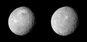 Trpasličí planeta Ceres - foceno 12. února ze vzdálenosti 83 000 km.