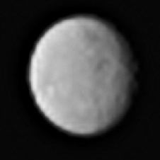 Zpracovaný snímek Cerery ze 13. ledna - vzdálenost 383 000 km.