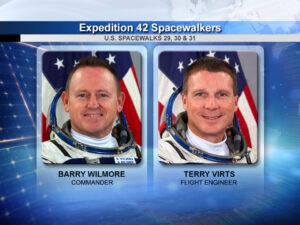 Astronauti, kteří se zúčastní trojice výstupů do volného kosmu