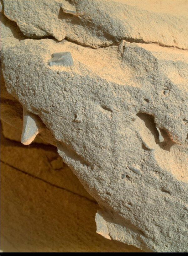 Během solu 442 vyfotila kamera MAHLI detailní snímky kamenů v lokalitě Cooperstown