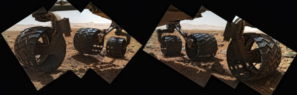 Inspekce stavu kol kamerou MAHLI - sol 469