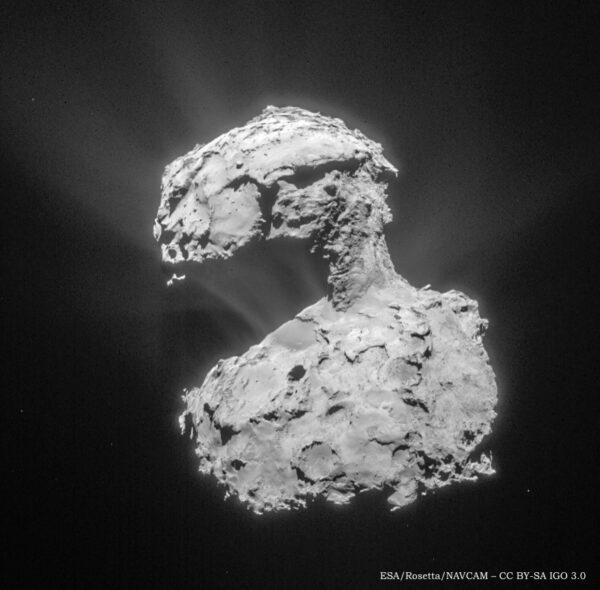 Aktuální aktivita komety 67P