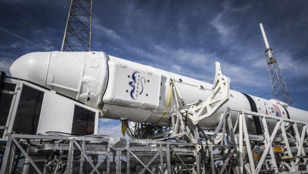 Dragon pro misi CRS-5 před startem