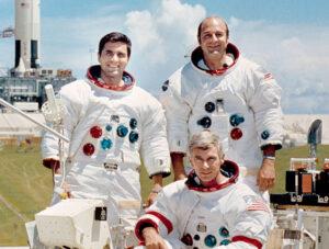 Definitivní podoba posádky Apolla 17: Schmitt, Cernan, Evans