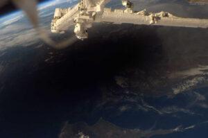 Zatmění Slunce z ISS v roce2006 zdroj: omicrono.com