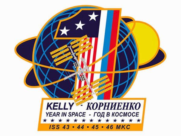 Speciální logo pro roční misi na ISS