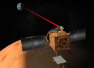 Laserová komunikace mezi Marsem a Zemí - zatím jen jako umělecká představa