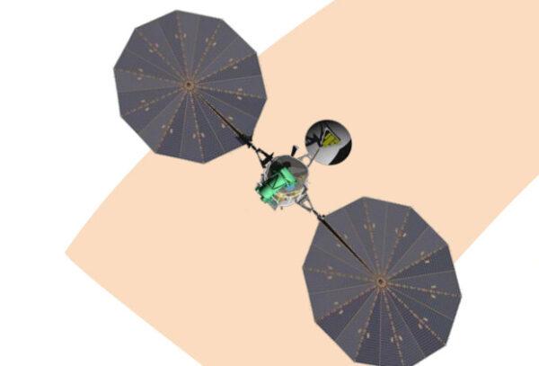 Předběžná vizualizace sondy Mars orbiter 2022
