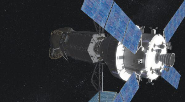 Orion se dvěma americkými astronauty se připojila k ARV se zachyceným balvanem.