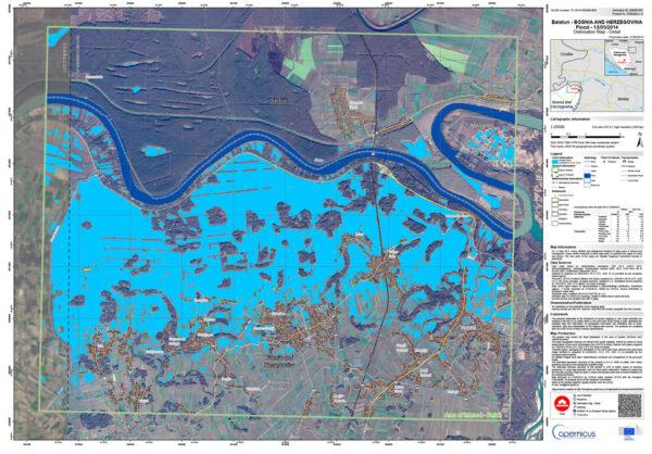 Data ze Sentinelu pomáhají - třeba zde při tvorbě povodňových map v Bosně a Hercegovině.