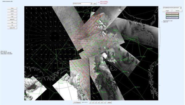 Data ze Sentinelu pomohla s monitorováním pohybu ledu.