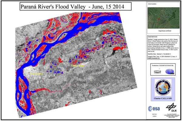 Záplavy na řece Paraná