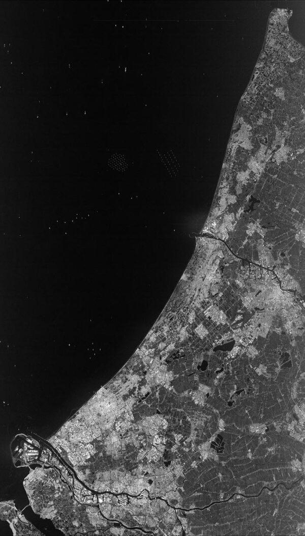 Radarový snímek Nizozemí