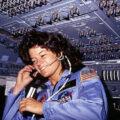 Sally Ride během mise STS-7