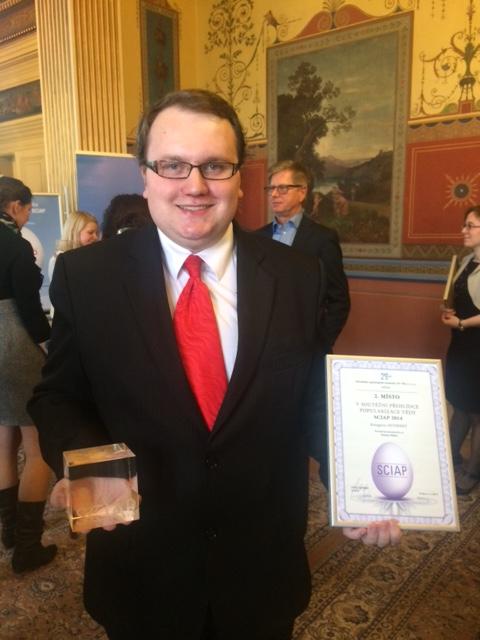 Séfredaktor našeho portálu - Dušan Majer - s cenami  ze soutěže SCIAP 2014