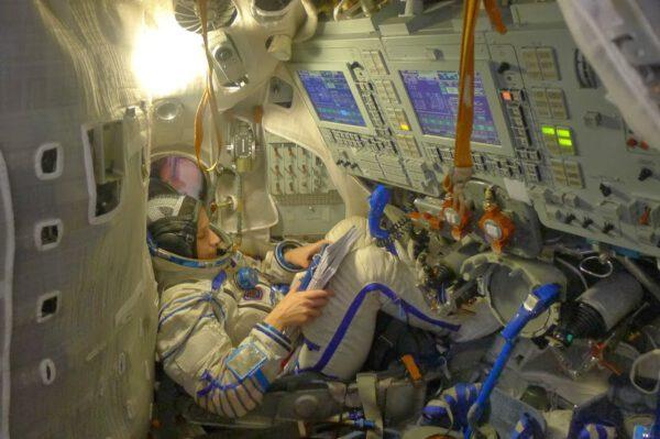 """Má """"kancelář"""" ve Výcvikovém středisku kosmonautů ve Hvězdném městečku."""