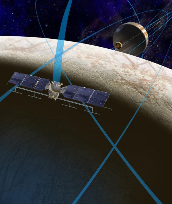 Představa sondy Europa Clipper