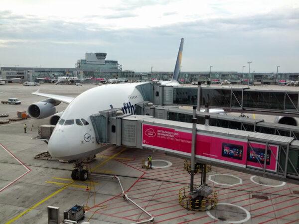 A380 který mě dopraví do Houstonu.