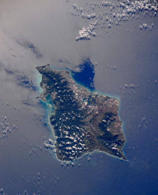 """""""Ostrov Oahu s městem Honolulu na nádherné Havaji."""""""