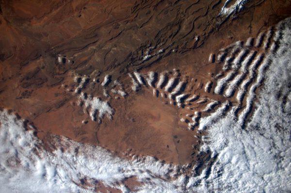 """""""Ahoj milovníci oblaků! Tady je dárek, který jsem zahlédla nad Marokem."""""""