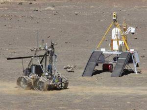 Pozemní zkoušky různých verzí těžebních roverů už probíhají několik let