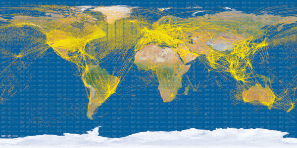 Dráhy letadel podle družice Proba-V