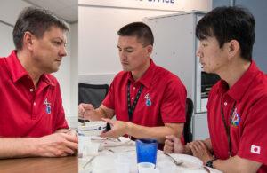 Posádka Sojuzu TMA-17M - Oleg Kononěnko, Kjell Lindgren a Kimija Jui