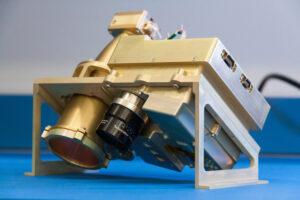 Infraspektrometr NIRVSS, který by měl na misi Resource Prospector pomoci měřit složení odpařených látek.