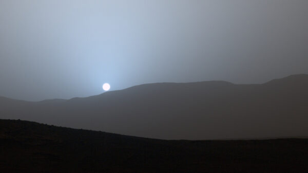 Západ Slunce na Marsu