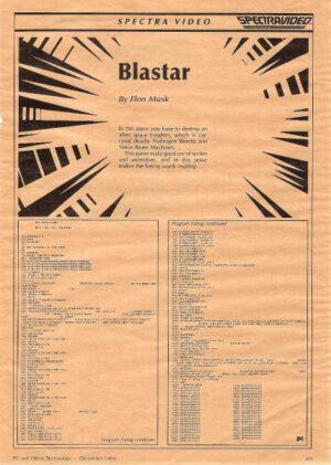 Blastar - první Muskův úspěch