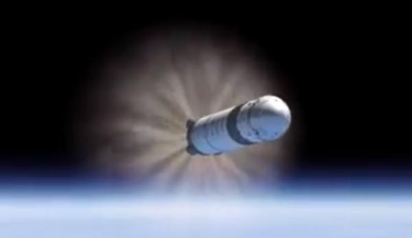T+ 0:02:37: Rychlost 10 Machů a dochází k vypnutí motorů prvního stupně MECO