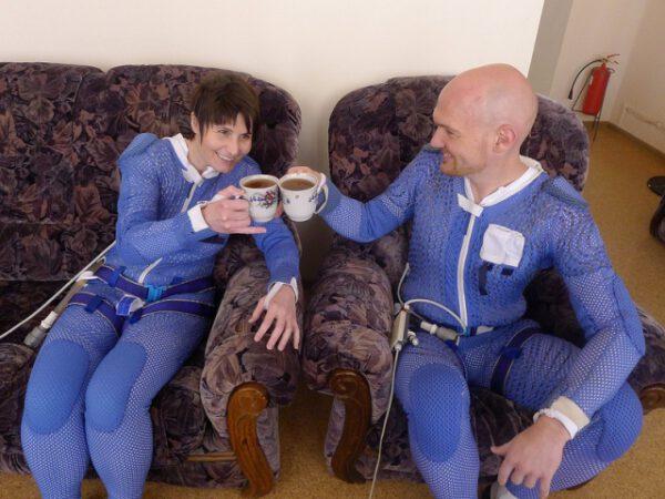 Následné oslavné popíjení čaje s Alexem.