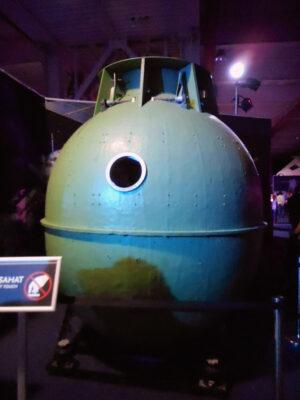 Laminátová maketa orbitálního úseku Sojuzu