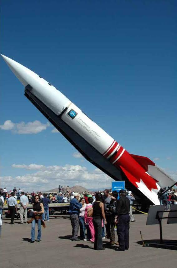 Prototyp rakety Canadian Arrow v roce 2005.